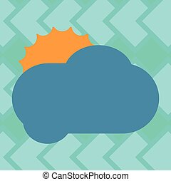 Design business concept Business ad for website promotion banners empty social media ad Sun Hiding Shining Behind Blank Fluffy Color Cloud Vector for Poster Ads
