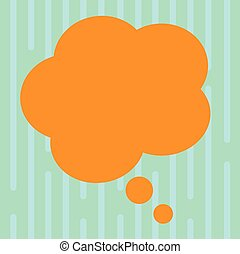 Design business concept Empty copy space modern abstract background Blank Color Floral Shape Thought Speech Bubble Vector for Presentation Ads