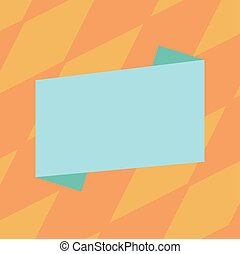 Design business concept Empty copy space modern abstract background Blank Color Folded Banner Strip Flat Style Vector for Announcement Poster