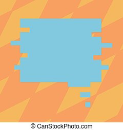 Design business concept Empty copy space modern abstract background Blank Color Speech Bubble in Puzzle Piece Shape Vector for Presentation Ads
