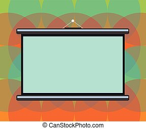 Design business concept Empty copy space modern abstract background Blank Portable Wall Hanged Projection Screen for Conference Presentation