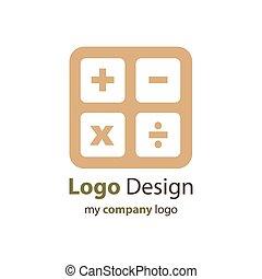 Design calculator logo brown color