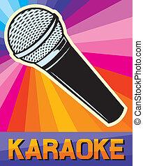 design), cartaz, (karaoke, karaoke