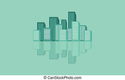 Design cartoon building vector flat