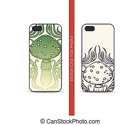 Design Case for Phone Abstract Mushroom - Design covers for...