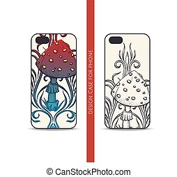 Design Case for Phone Abstract Mushroom Two - Design covers...