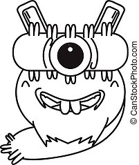 Design Character One Eye Monster