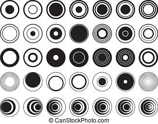 Design circles illustrated on white