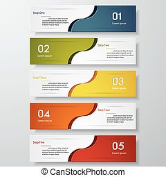 Design clean number banner template