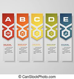Design clean number banners template/graphic or website...