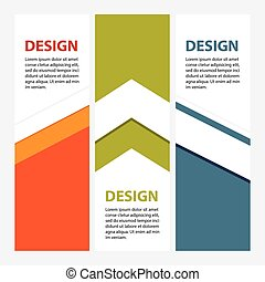 Design clean number banners template/graphic or website layout. Vector