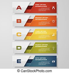 clean number banners template - Design clean number banners...