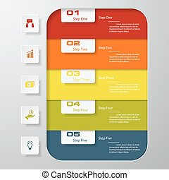 Design clean number banners. vector - Design clean number ...