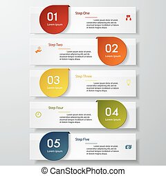 Design clean number vector template - Design clean number...