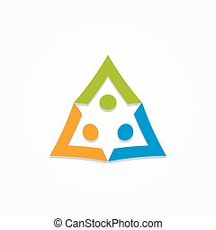 Design colorful people vector logo template