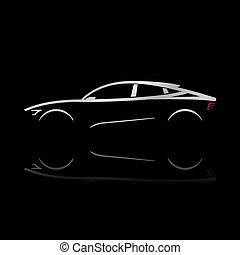 Design concept car.