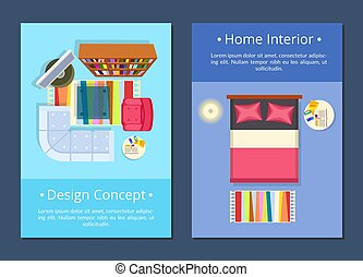 Design Concept, Home Interior Vector Illustration