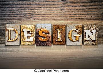 Design Concept Letterpress Theme