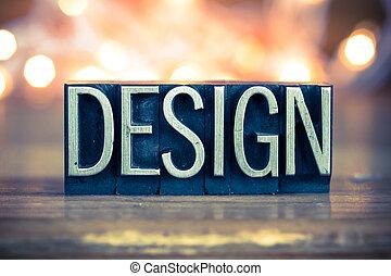 Design Concept Metal Letterpress Type