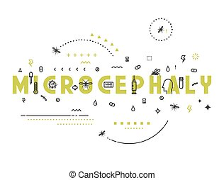 Design concept microcephaly. Modern line style illustration....
