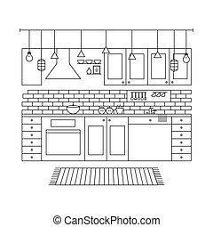 Design Concept of Minimalist Modern Kitchen Set.