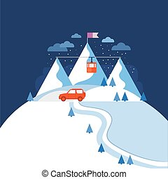 Design concept ski mountain.