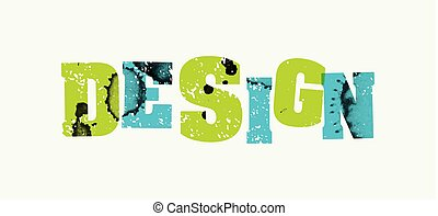 Design Concept Stamped Word Art Illustration