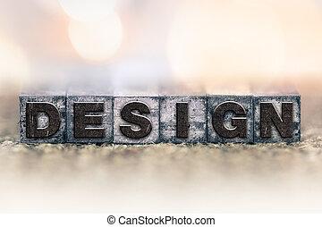 Design Concept Vintage Letterpress Type