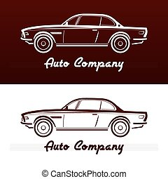 Abstract retro car design.