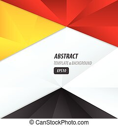 Design crumpled paper  yellow, black, red