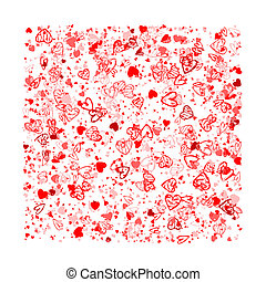 design, din, bakgrund, valentinbrev