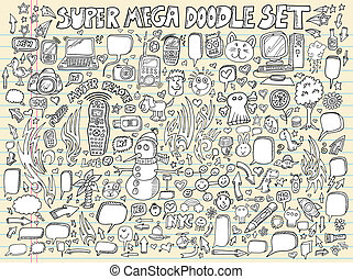 Design Doodle Elements Vector Set