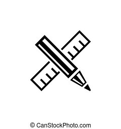 Design Drawing Tools Flat Vector Icon - Design Drawing...