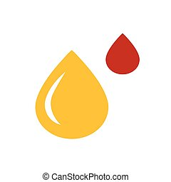 design drop of water icon yellow and red color