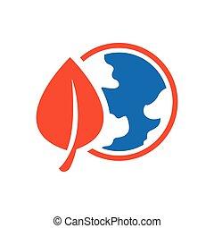 design Earth Icon blue and orange