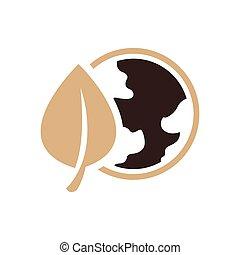 design Earth Icon brown color
