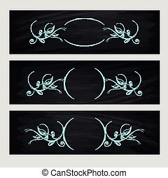 Design element. Beauty decorative frame for text