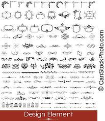 Design Element - illustration of set of vintage design...