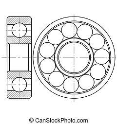 Design element of a mechanical bearing.