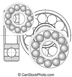 Design element of a mechanical bearing.
