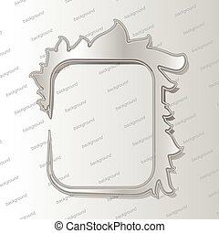 Design elements - 3D silver frame with shadows. Vector illustration EPS10.