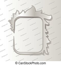 Design elements - 3D silver frame with shadows. Vector illustration EPS10.