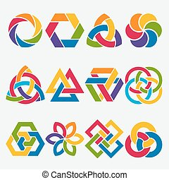 design elements. abstract symbol set