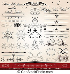 Design elements - Calligraphic vintage design elements