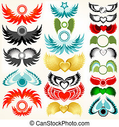 design elements - collection of flying elements