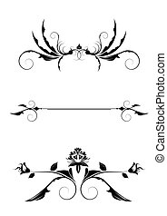 Editable vector design elements on white background. More images like this in my portfolio