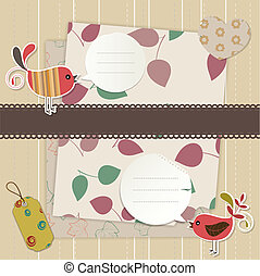 Design elements for scrapbook