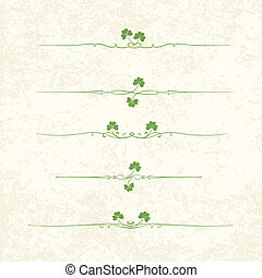 Design Elements For St. Patrick's Day. EPS10