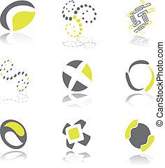 Design elements green grey