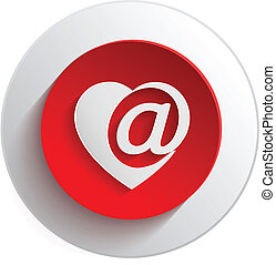 Design Elements heart E-Mail.Vector